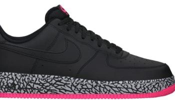 Nike Air Force 1 Low Black/Black-Hyper Pink-Wolf Grey