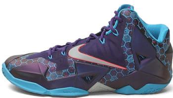Nike LeBron 11 Court Purple/Reflective Silver-Vivid Blue