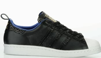 adidas Originals Superstar 80s Black/Black-Metallic Gold