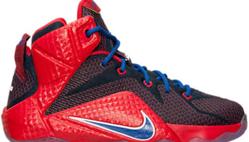 Nike LeBron 12 GS University Red/Game Royal-Midnight Navy