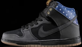 Nike Dunk High Premium SB Black/Black-Dark Royal Blue