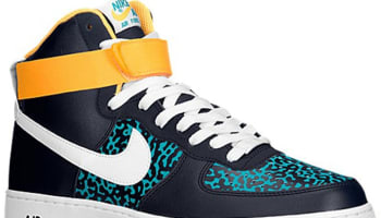 Nike Air Force 1 High Obsidian/White-Tribe Green-Atomic Mango