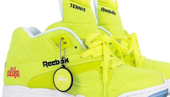 Reebok Court Victory Pump Felt Neon Yellow/White-Ice