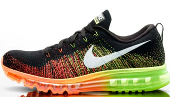 Nike Air Max Flyknit Black/Sail-Atomic Orange-Volt