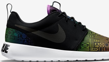 Nike Roshe Run Black/White-Rainbow
