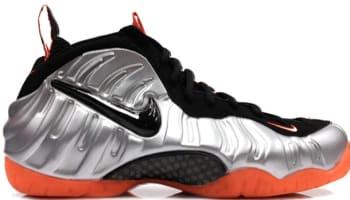 Nike Air Foamposite Pro Metallic Platinum/Black-Bright Crimson
