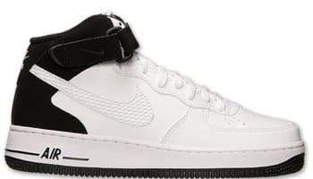 Nike Air Force 1 Mid White/White-Black