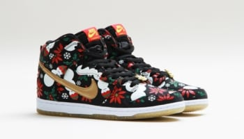 Nike Dunk High Premium SB Black/Metallic Gold-Pine Green-University Red