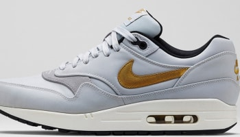 Nike Air Max 1 Premium QS Pure Platinum/Metallic Gold-Black