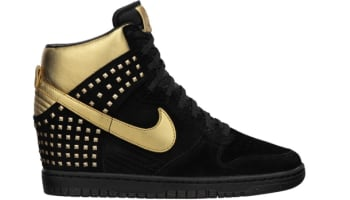 Nike Dunk Sky Hi Studs Women's Black/Metallic Gold