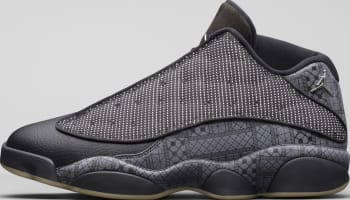 Air Jordan 13 Retro Low Q54 Black/Dark Grey-White-Chrome