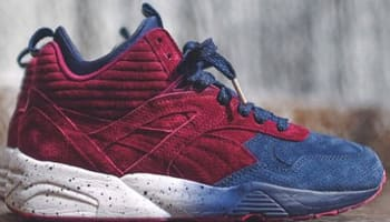 Puma R698 Mid Peacoat/Beet Red
