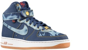 Nike Air Force 1 High '07 Denim Midnight Navy/Midnight Navy-Gum Medium Brown-University Blue