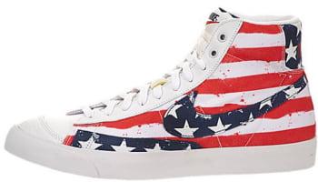 Nike Blazer Mid '77 Premium VNTG White/University Red-Midnight Navy