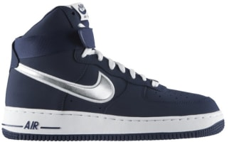 Nike Air Force 1 High Midnight Navy/Metallic Silver
