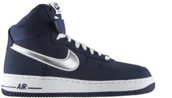 Nike Air Force 1 High Midnight Navy/Metallic Silver