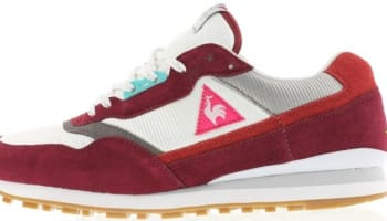 Le Coq Sportif Zenith Maroon/Optical White-High Rise Grey