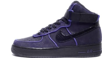 Nike Air Force 1 High Black/Black-Court Purple