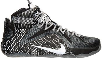 Nike LeBron 12 BHM Black/White-Metallic Silver