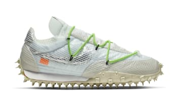 Off White x Nike Waffle Racer Women's White/Electric Green-Black