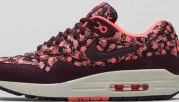 Nike Air Max 1 Liberty Women's Deep Burgundy/Bright Mango-Sail-Deep Burgundy