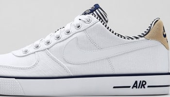 Nike Air Force 1 AC Premium White/White-Midnight Navy