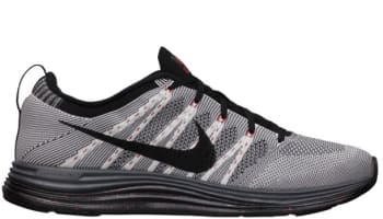 Nike Free Flyknit Lunar1 White/Black-Dark Grey-University Red