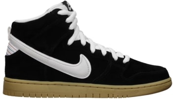 Nike Dunk High Premium SB Black/White-Gum Light Brown