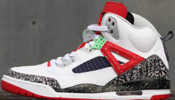 Jordan Spiz'ike White/Light Poison Green-University Red-Cool Grey
