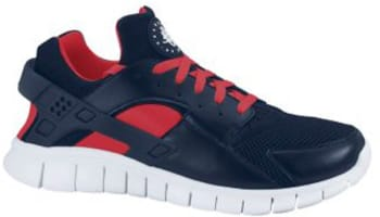 Nike Huarache Free Run 2012 Obsidian/Obsidian-Action Red