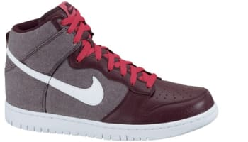 Nike Dunk High Red Mahogany/White-Red Mahogany