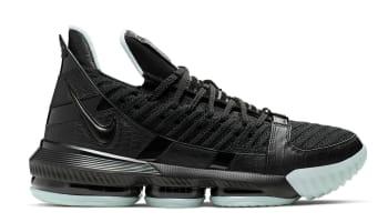 f03258e9c716 Nike LeBron 16 Black Black-Glow