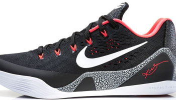 Nike Kobe 9 EM Black/White-Laser Crimson-Wolf Grey