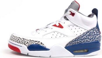 Jordan Son Of Mars Low White/True Blue-Gym Red-Cement Grey