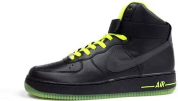 Nike Air Force 1 High Black/Black-Volt