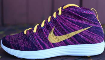 Nike Lunar Flyknit Chukka Black/Laser Orange-Grand Purple-Neo Turquoise-Pink Flash-Sail