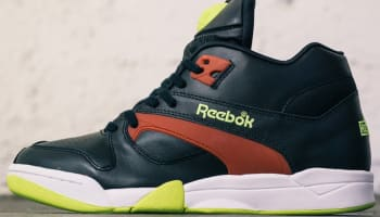 Reebok Court Victory Pump Black/Excellent Red-Solar Yellow-White
