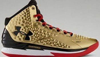 Under Armour Curry One Metallic Gold/Black-Red
