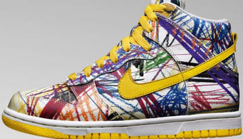 Nike Dunk High Premium GS White/Varsity Maize