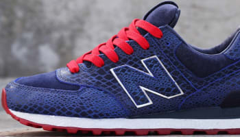 New Balance 574 Navy/Silver-Red