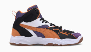 The Hundreds x Puma Performer Mid Puma Black-Persimmon Orange
