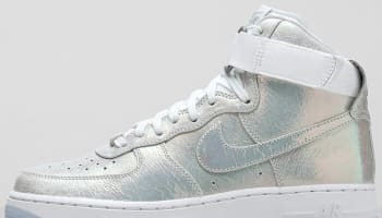 Nike Air Force 1 High Women's White/Metallic Silver-White
