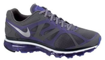 Nike Air Max+ 2012 Cool Grey/Metallic Silver-Pure Purple