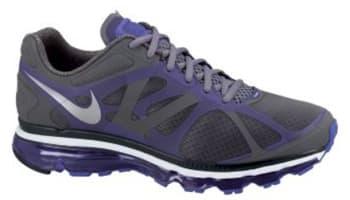 Nike Air Max+ 2012 Cool Grey/Metallic Silver-Pure Purple
