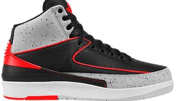 Air Jordan 2 Retro Black/Infrared 23-Pure Platinum-White