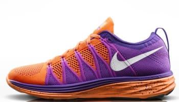 Nike Flyknit Lunar2 Women's Atomic Orange/White-Court Purple-Red Violet