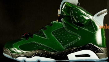 Air Jordan 6 Retro Pure Green/Metallic Gold-Chilling Red-Black