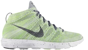 Nike Lunar Flyknit Chukka Wolf Grey/Cool Grey-Electric Green-White