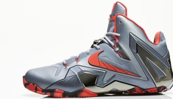 Nike LeBron 11 Elite Wolf Grey/Light Crimson-Cool Grey-Black