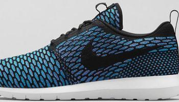 Nike Roshe Run Flyknit Black/Neo Turquoise-Blue Glow-Black